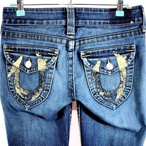True Religion Womens Straight Leg Jeans Size 28